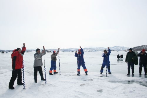 "Meeting of trade union of JSC ""AECC"". Tournament on ice fishing, april 2010"