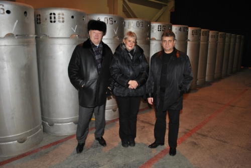 Location the guaranteed reserve of LEW in the storage facility of JSC IUEC (Russian Federation, Angarsk, 26 November 2010)