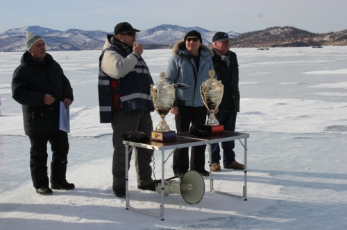 AEСС' Open Team-Individual Championship on ice fishery by fishrod on Lake Baikal for A.E. Lebedev Cup Trophy devoted to the 70-th anniversary of the Russian trade union of employees of the power engineering and industry